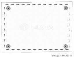 手描き風 刺繍フレーム モノクロのイラスト素材 44845358 Pixta