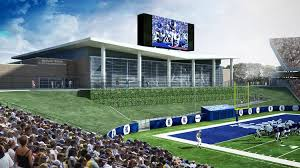 rice university football stadium. Contemporary Football Renderings Show The Completed Brian Patterson Sports Performance Center In  North End Zone At Rice Intended University Football Stadium L