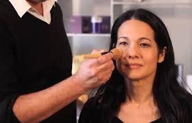 makeup for women over 40 apply foundation