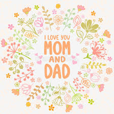 card mom and dad stock vector ilration of love happy 40754703