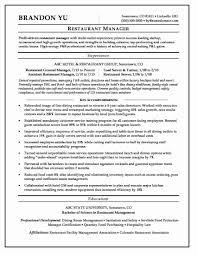 Resume Template Restaurant Manager Sample Pdf 23 Fresh Restaurant