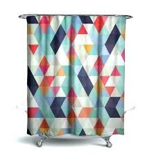 marvellous orange fabric shower curtain bright geometric by blue burnt fabr shower curtains