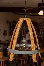glass globe wine barrel stave light