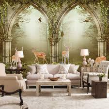 Wall Mural For Living Room Online Get Cheap Deer Wall Murals Aliexpresscom Alibaba Group
