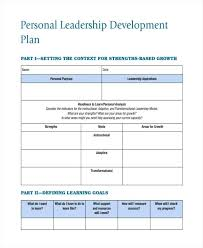 Development Plan Examples Samples Word Pages Leadership