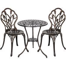best choice s cast aluminum patio bistro furniture set in antique copper 1