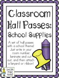 Hall Passes For School Classroom Hall Pass Teaching Resources Teachers Pay Teachers