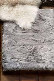 next luxury faux sheepskin rug grey