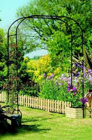 metal garden arch ornament trellis for climbing roses and plants