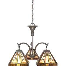 tiffany style chandelier vintage bronze three light home depot