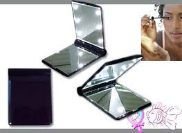 lighted travel makeup mirror canada led pocket hand portable