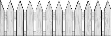 picket fence drawing. Picket Fence Drawing I