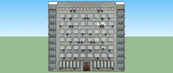 3d Model Dense Apartment Building Cgtrader