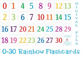 Printable Number Cards 1 30 Free Printable Numbers