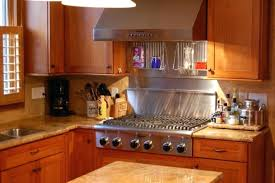 gas stove top cabinet. Six Burner Gas Stove Top It Has Natural Cherry Cabinets Golden Eagle Granite With Bull Nose Cabinet