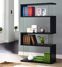 cheap office shelving. Coaster Casual Black Asymmetrical Snaking Bookcase Cheap Office Shelving L