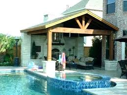 wooden patio roof interesting cover wood ideas large size of to build a stand alone covered