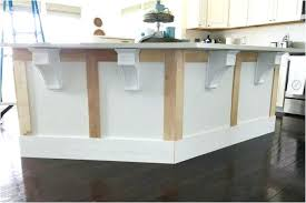 kitchen island corbels new com trim craftsman wood how to install brackets