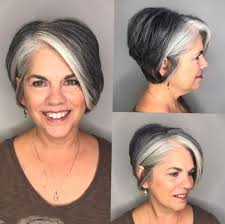 60 Gorgeous Gray Hair Styles Kapsels Grijs Haar Highlights