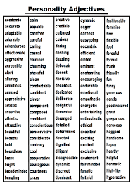 Download A Classroom Ready 300 Word Personality Adjectives List