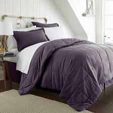 becky cameron bed in a bag performance purple twin xl 8 piece bedding set ieh mult twxl pu the home depot