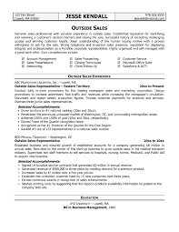 Best Outside Sales Representative Resume Example Resume Template