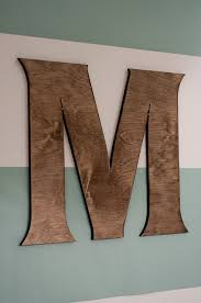 DIY Wooden Letter wall hanging -Website for cheap letters in lots of fonts  and sizes - Craft Cuts