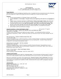 Ideas Collection Sap Fi Consultant Resume Format Fancy Sap Apo