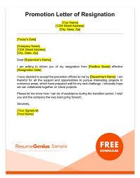 Sample Of Promotion Letter Career Specific Resignation Letters Teacher Nurse More