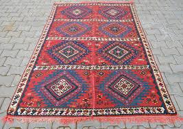 turkish sivas kilim area rug 6 x 10 in bright colors orlon on cotton