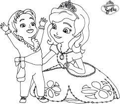 Coloriage A Imprimer Princesse Sofia Et Le Prince James Gratuit Et