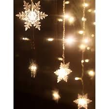 indoor decor snowflake pendant led string light warm white light