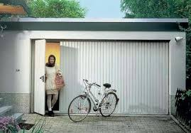 pedestrian door in a hormann df98 steel garage door