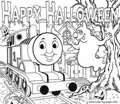Small Picture Halloween Full Page Thomas The Train Sac35 Coloring Pages Printable