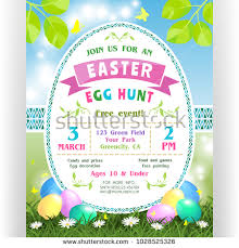 easter egg hunt template egg hunt schedule stock images royalty free images vectors