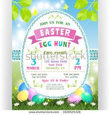 easter egg hunt template egg hunt schedule stock images royalty free images vectors