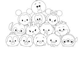 Tsum Tsum Coloring Pages