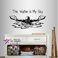 Small Picture Swimmer Swim Swimming Water Sport Wall Decals Vinyl Sticker Home