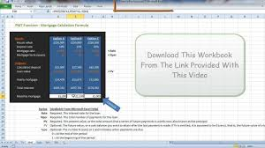 Mortgage Repayment Excel Calculation Explained Youtube