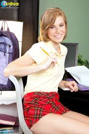Ella Woods Naked in a Plaid Skirt Photos Gallery