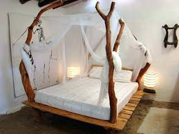 Canopy Bed Frame Full Size Wood Canopy Bed Frame – dhwanidhc.com