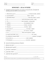 verb conjugation practice worksheets google search spanish pdf