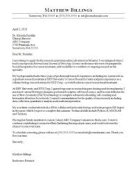 Internship Letter Of Intent Research Assistant Cover