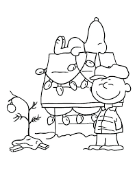 Christmas Coloring Pages Free Image Printable Peanuts Colouring