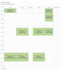 Class Schedule Maker Free Online Best Of Weekly Class