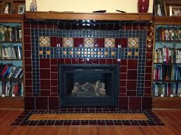 frank lloyd wright s frank thomas house tile really pops in this beautiful fireplace installation fireplaces by motawi oak park illinois