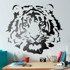 wall stickers tiger face