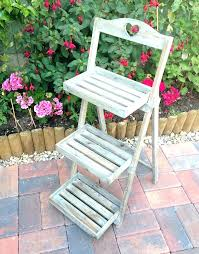 3 tier wood shelf rustic wooden plant stand display step stall shabby chic and metal