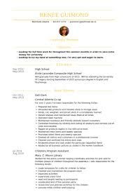 Deli Clerk Resume samples