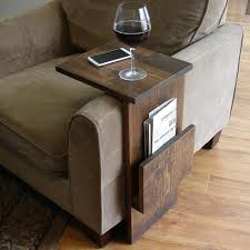 furniture furniture custom diy wood tv tray table with bookshelf or rack for brown microfiber chair wooden legs ideas folding fold up coffee make